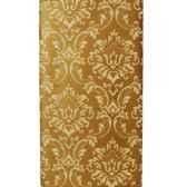 serviettes 3 plis 1 6 pli 33 cm x 40 cm or ornament papstar 10618