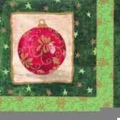 serviettes 3 plis pliage 1 4 33 cm x 33 cm bauble papstar 11235