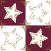 serviettes 3 plis pliage 1 4 33 cm x 33 cm bordeaux four stars papstar 81092