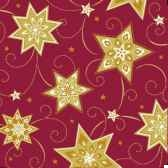 serviettes 3 plis pliage 1 4 33 cm x 33 cm bordeaux just stars papstar 81779