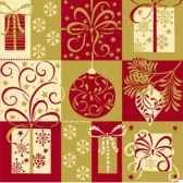 serviettes 3 plis pliage 1 4 33 cm x 33 cm christmas symbols papstar 81621