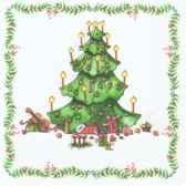 serviettes 3 plis pliage 1 4 33 cm x 33 cm christmas tree papstar 81021