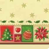 serviettes 3 plis pliage 1 4 33 cm x 33 cm creme christmas accents papstar 11393