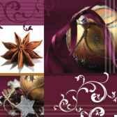 serviettes 3 plis pliage 1 4 33 cm x 33 cm glamorous christmas papstar 81782