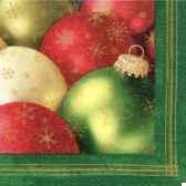 serviettes 3 plis pliage 1 4 33 cm x 33 cm glass balls papstar 17946