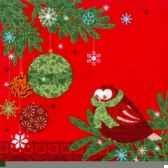 serviettes 3 plis pliage 1 4 33 cm x 33 cm hiboux papstar 10683