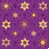 serviettes 3 plis pliage 1 4 33 cm x 33 cm lilac stars papstar 10498