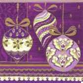 serviettes 3 plis pliage 1 4 33 cm x 33 cm lilac x mas papstar 81262