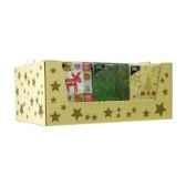 serviettes 3 plis pliage 1 4 33 cm x 33 cm noeassorti papstar 12535