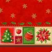 serviettes 3 plis pliage 1 4 33 cm x 33 cm rouge christmas accents papstar 17002
