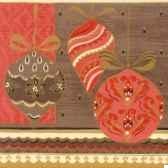 serviettes 3 plis pliage 1 4 33 cm x 33 cm rouge glitter balls papstar 10435