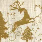 serviettes 3 plis pliage 1 4 33 cm x 33 cm royadeer papstar 10684
