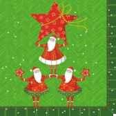 serviettes 3 plis pliage 1 4 33 cm x 33 cm santa s pyramide papstar 81619