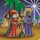 serviettes 3 plis pliage 1 4 33 cm x 33 cm three holy kings papstar 11274
