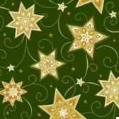 serviettes 3 plis pliage 1 4 33 cm x 33 cm vert fonce just stars papstar 81780