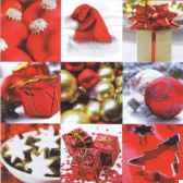 serviettes 3 plis pliage 1 4 33 cm x 33 cm winter impressions papstar 81022