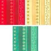 serviettes 3 plis pliage 1 8 40 cm x 40 cm golden line assorti papstar 16354