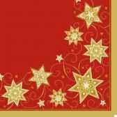 serviettes airlaid aspect textile pliage 1 4 40 cm x 40 cm just stars papstar 81989