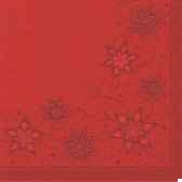 serviettes royacollection pliage 1 4 40 cm x 40 cm rouge just stars papstar 82144