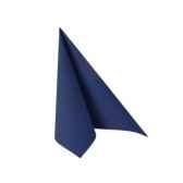 serviettes royacollection pliage 1 4 25 cm x 25 cm bleu fonce papstar 11259