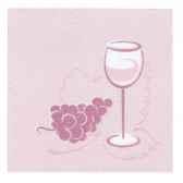 serviettes royacollection pliage 1 4 25 cm x 25 cm bordeaux vin papstar 10673