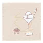 serviettes royacollection pliage 1 4 25 cm x 25 cm champagne cafe papstar 10672