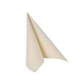 serviettes royacollection pliage 1 4 25 cm x 25 cm champagne papstar 11264