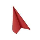 serviettes royacollection pliage 1 4 25 cm x 25 cm rouge papstar 11260