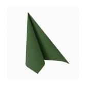 serviettes royacollection pliage 1 4 25 cm x 25 cm vert fonce papstar 11254