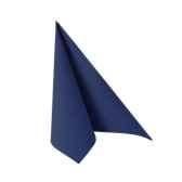 serviettes royacollection pliage 1 4 33 cm x 33 cm bleu fonce papstar 11249