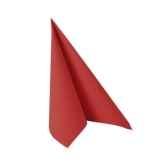 serviettes royacollection pliage 1 4 33 cm x 33 cm rouge papstar 11250
