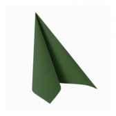 serviettes royacollection pliage 1 4 33 cm x 33 cm vert fonce papstar 11245