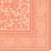 serviettes royacollection pliage 1 4 40 cm x 40 cm abricot ornaments papstar 11683