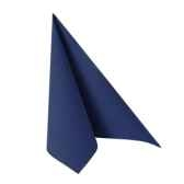 serviettes royacollection pliage 1 4 40 cm x 40 cm bleu fonce papstar 16903