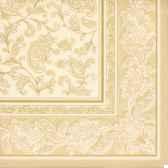 serviettes royacollection pliage 1 4 40 cm x 40 cm champagne ornaments papstar 17054