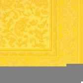 serviettes royacollection pliage 1 4 40 cm x 40 cm jaune ornaments papstar 17055