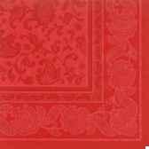 serviettes royacollection pliage 1 4 40 cm x 40 cm rouge ornaments papstar 11418