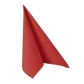 serviettes royacollection pliage 1 4 40 cm x 40 cm rouge papstar 11607