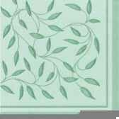 serviettes royacollection pliage 1 4 40 cm x 40 cm vert fonce new mediterra papstar 11636