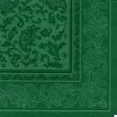 serviettes royacollection pliage 1 4 40 cm x 40 cm vert fonce ornaments papstar 17050
