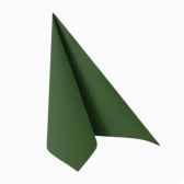 serviettes royacollection pliage 1 4 40 cm x 40 cm vert fonce papstar 16907