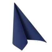 serviettes royacollection pliage 1 4 48 cm x 48 cm bleu fonce papstar 11575