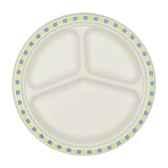 assiettes pur bois 3 compartiments o 26 cm 3 cm blanc duett papstar 12119