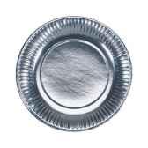 assiettes carton o 19 cm argent papstar 11516