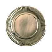 assiettes carton o 19 cm or papstar 11524