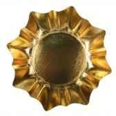 assiettes carton o 28 cm or forme d etoile papstar 11179