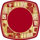 assiettes carton rectangulaire 26 cm x 26 cm christmas symbols papstar 81697