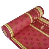 chemin de table aspect textile airlaid 24 m x 40 cm bordeaux jingle bells en papstar 11398