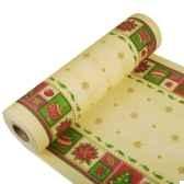 chemin de table aspect textile airlaid 24 m x 40 cm creme christmas accents papstar 11396