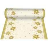 chemin de table aspect textile airlaid 24 m x 40 cm creme just stars en roupapstar 81337